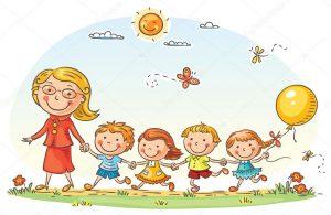 děti a učitelka