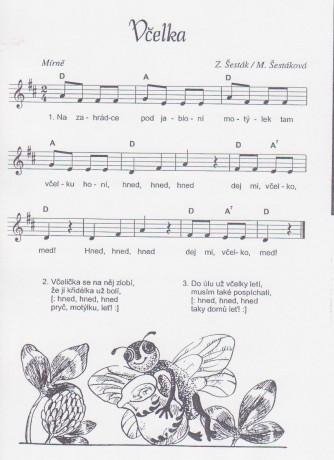 písnička včelka