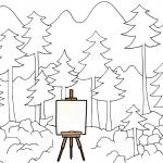 stojan v lese